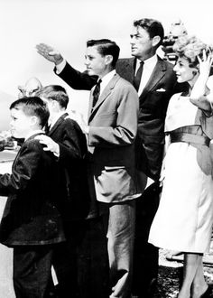 San Francisco, 1958 - Gregory Peck showed the sights to his wife, Veronique, and his sons by a previous marriage, Stephen, 9; Carey, 12, and Jonathan, 14. the family was in the city for the premiere of a motion picture peck produced.