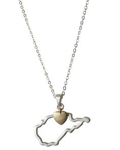 I SO WANT THIS!!! I found this on www.mycentsofstyle.com West Virginia State Necklace <3 Love it!