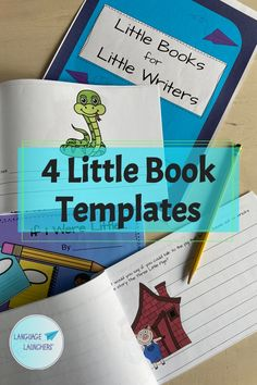 Four little instant download and print book templates. Color and B/W versions included. #imagination #SLP #TOD #literacy #early writers English Language Learners, Three Little Pigs, Conversation Starters, Little Books, Teacher Newsletter, Small Groups, Teaching Kids, Writers, Literacy