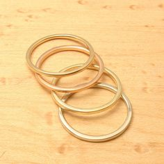 Sublime, Stackable Gold Wedding Band for her, Choose Your Own Gold hand made in Maine