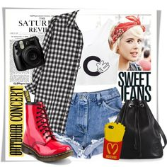Outdoor Concert by stylemeup007 on Polyvore featuring polyvore fashion style MANGO Dr. Martens Gucci Moschino contestentry outdoorconcert