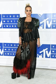 Rita Ora on the VMAs 2016 red carpet wearing head-to-toe Marc Jacobs