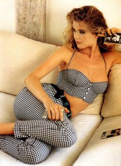 "Claudia Schiffer's Guess ad from 1987, featuring Sting's ""Nothing Like The Sun"" music tape."