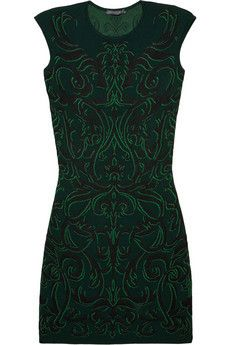 Patterned knitted dress by Alexander McQueen