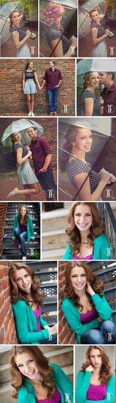 Don't let the threat of a rainy day spoil your photo shoot---EMBRACE IT! I grabbed my Urban Outfitters retro but chic umbrella for this senior session...PS: boyfriend? Bring him!