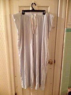 Merona Womans Soft Knit Sleep Pants Pajama Lounge Tea Cup Blue XXL 100%Cotton #Merona #Sleep #Sleepware