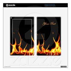 Blazing Flames Kindle Fire Skin musicskins_skin