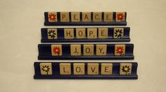 SALE Upcycled Vintage Scrabble Tile Art Decor Hope by bevscards, $20.00