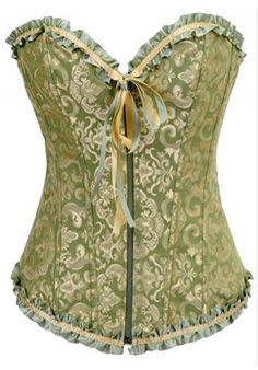 Burlesque Clothing | Sage Gold Burlesque Corset only $59.99