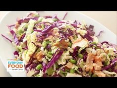 Shredded Cabbage and Salmon Salad   Everyday Food with Sarah Carey (+pla...