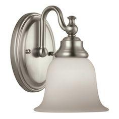 Portfolio Brandy Chase Brushed Nickel Bathroom Vanity Light