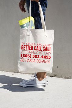 Hey, I found this really awesome Etsy listing at https://www.etsy.com/listing/220356817/better-call-saul-tote-bag