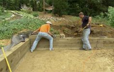This Old House landscaping contractor Roger Cook shows how to construct a wood-timber retaining wall to create a play area.