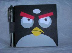 Angry bird valentine box layout