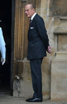 Prince Philip, Duke of Edinburgh arrives to Church on Easter Sunday at St George's Chapel, Windsor, UK, 20.04.14