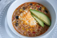 Quick and EASY- Slow Cooker Chicken Enchilada Soup!