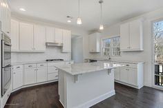 "Stunning White Kitchen in Little Silver's ""Carriage Gate"" community! #newconstruction #littlesilver #forsale"