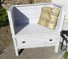 """Make this from a chest of drawers! Looks like a """"time out"""" chair!"""