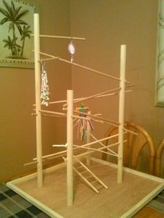 Diy parakeet playstand (Maybe Dad can build)