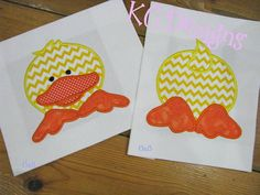 Front and Back Duck Machine Applique Embroidery by KCDezigns, $5.00