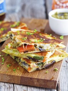 7. Grilled Vegetable Quesadillas With Kale Pesto #healthy #summer #grilling http://greatist.com/health/27-unexpected-foods-grill-summer