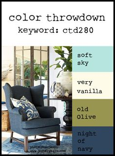 Color Throwdown: Color Throwdown #280 (sky, colonial white, olive, outdoor denim)