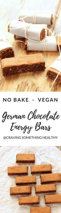 Vegan German Chocolate Energy Bars Craving Something Healthy