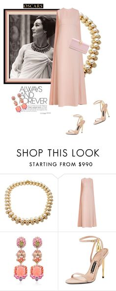 """Jacqueline"" by theitalianglam ❤ liked on Polyvore featuring Bulgari, Valentino, Anabela Chan, Tom Ford, valentino, BULGARI, TOMFORD, fashionicons and oscarfashion"
