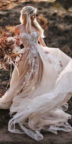 Dream Wedding Dresses, Boho Wedding Dress, Bridal Dresses, Wedding Bride, Woodland Wedding Dress, Unusual Wedding Dresses, Boho Gown, Rustic Wedding Dresses, Dramatic Wedding Dresses