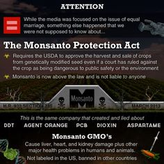 Monsanto needs to Diaf STAT!  Please educate yourselves & avoid Monsanto products (seeds/crops/etc) at all costs.