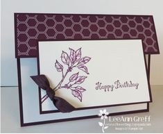 Bloom with Hope & Blackberry Bliss fun fold card from Flowerbug's Inkspot