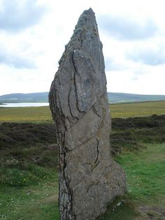 Standing Stone from one of the circles on Orkney Scotland