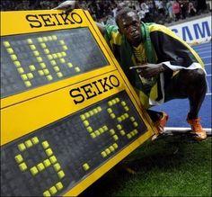 Usain Bolt - awesome guy.