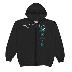 Diagrams Unisex Zip Hoodie #ethericlife #geekgifts #scichic #sciencegifts #scientificgifts #geekchic