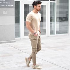 Cream Outfit Style for Men