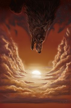 In old legends, the dark of night was said to be the pelt of an enormous black wolf, a wolf that was hunting the sun.
