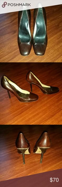 Gucci Shoes Chocolate Brown Leather Pumps Gucci Shoes Heels