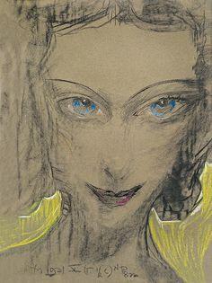 Stanisław Ignacy Witkiewicz (Polish, 1885-1939)  Portrait of Janina…