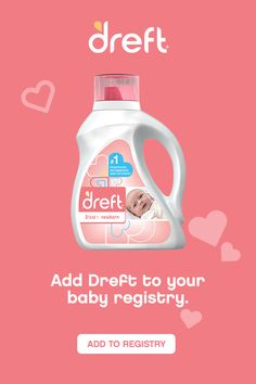 Be sure to register for Dreft, the pediatrician recommended baby detergent for washing your newborn's clothes. Dreft is hypoallergenic and specially formulated for newborn babies to be gentle on their skin. Pick Up, Liquid Laundry Detergent, Stage, Newborn Babies, Newborn Care, Baby Sign Language, Baby Shower, Baby Registry, Foster Care