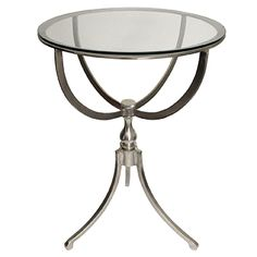 This classic art deco table and glass top are a perfect addition to any room.