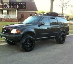 Wheel Offset 1999 Ford Expedition Aggressive 1 Outside Fender Leveling Kit Custom Rims