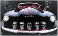 Hot Rod, very cool! Rat Rods, Hot Rod Autos, Ford Modelo T, Pt Cruiser, Garage Art, Lead Sled, Chevrolet Bel Air, Sweet Cars, Hot Rides