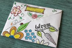marissamakes: Mail Art: Decorated Envelopes Need to do this! Decorated Envelopes, Handmade Envelopes, Envelope Art, Envelope Design, Mail Art Envelopes, Art Postal, Paper Beads, Snail Mail, Creative Cards