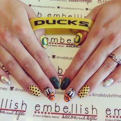 Oregon Ducks Nails Insta Nailsbybrittney