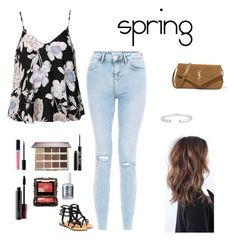 """""""spring"""" by alexbetancourt on Polyvore featuring Ally Fashion, Mystique, Yves Saint Laurent, Christian Dior, tarte, Urban Decay, MAC Cosmetics, Anna Sui and Essie"""