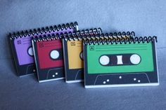 Great Projects To Reuse Old Cassette Tapes Cassette Tape Art, Vhs Cassette, Casette Tapes, Project Life, Easy Craft Projects, Craft Ideas, Good Tutorials, Tape Crafts, Papers Co