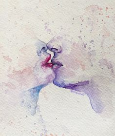 dia dos namorados, aquarela,, watercolor, pintura, painting, ilustracao, illustration, amor, love, beijo, kiss, couple, casal, piano, passion,  copyright by Adriana Galindo