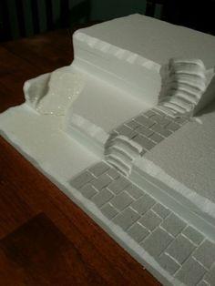 I have used the Styrofoam to make the platform for my village.
