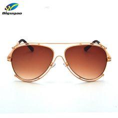 8fd166b42abaa Brand Designer 2016 New Classic Luxury Pilot Sunglasses Women Hollow Out  Metal Frame Sun Glasses Driving