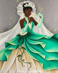 """If you do your best each and every day, good things are sure to come your way."" ✨ Being one of my favorite movies and one of my favorite Princesses, I enjoyed working on this piece immensely. Tiana has such strength and is so determined to make her. Disney Fan Art, Disney Princess Art, Disney Artwork, Disney Drawings, Frog Princess, Princess Jasmine, Disney Dream, Disney Style, Disney Love"